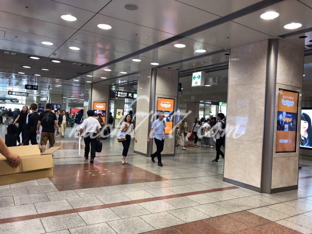 名古屋駅は混んでいる